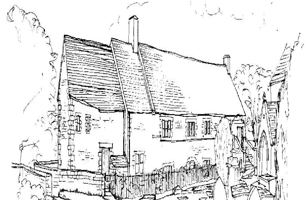 Line drawing of The Old Endowed School